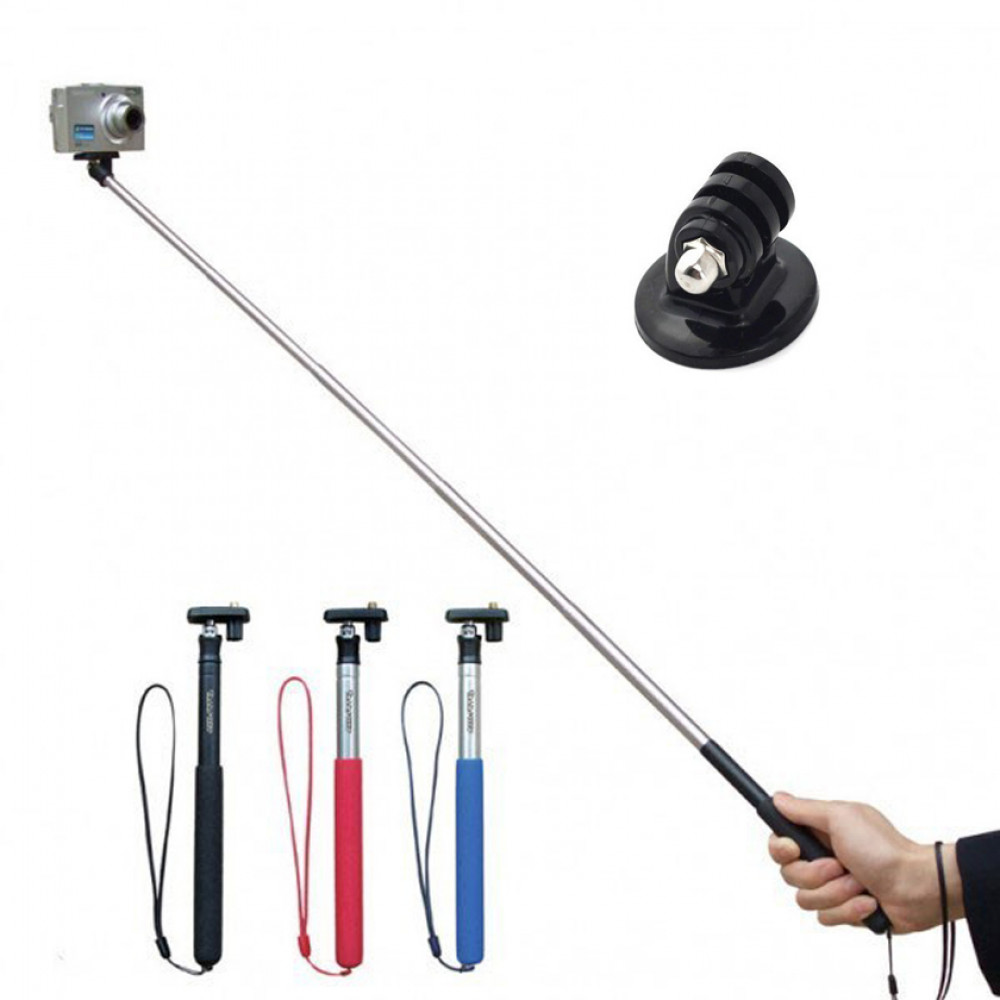 ST-75 Telescoping Extendable Pole Handheld Monopod with Tripod for Экшн-камера  2 / 3