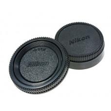 Крышка передняя и задняя для объектива Nikon (комплект)
