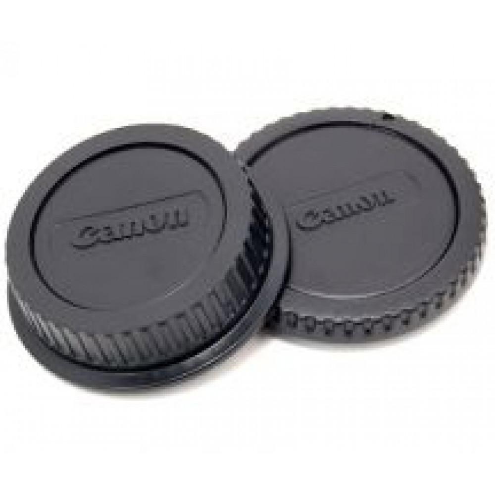 Крышка передняя и задняя для объектива Canon (комплект)