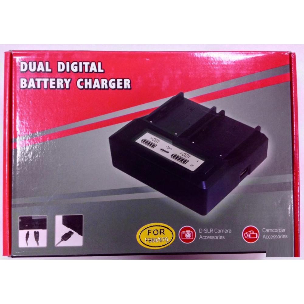 Двойное зарядное у-во с инфо индикатором Для Sony BP-U30/60/90 + usb Charger