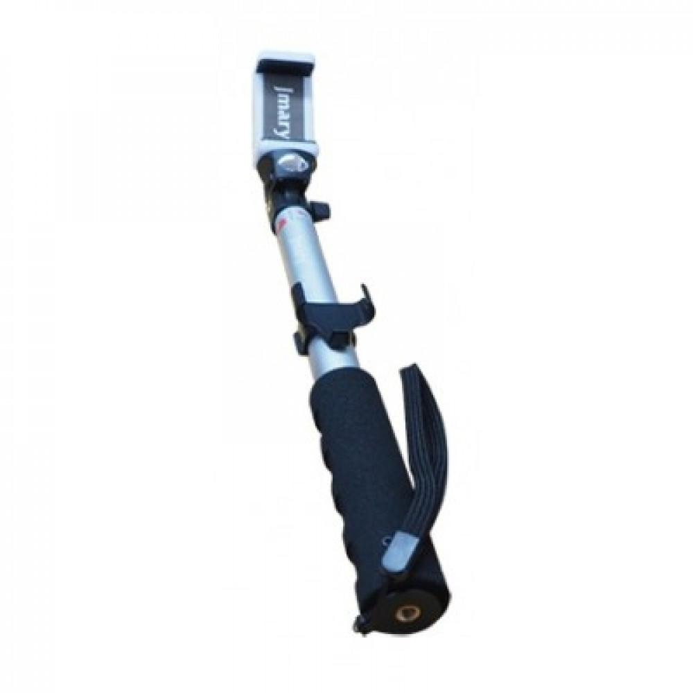 Универсальный Bluetooth Пульт Монопод для Экшн-камера Jmary Selfie Stick QP-168 Silver