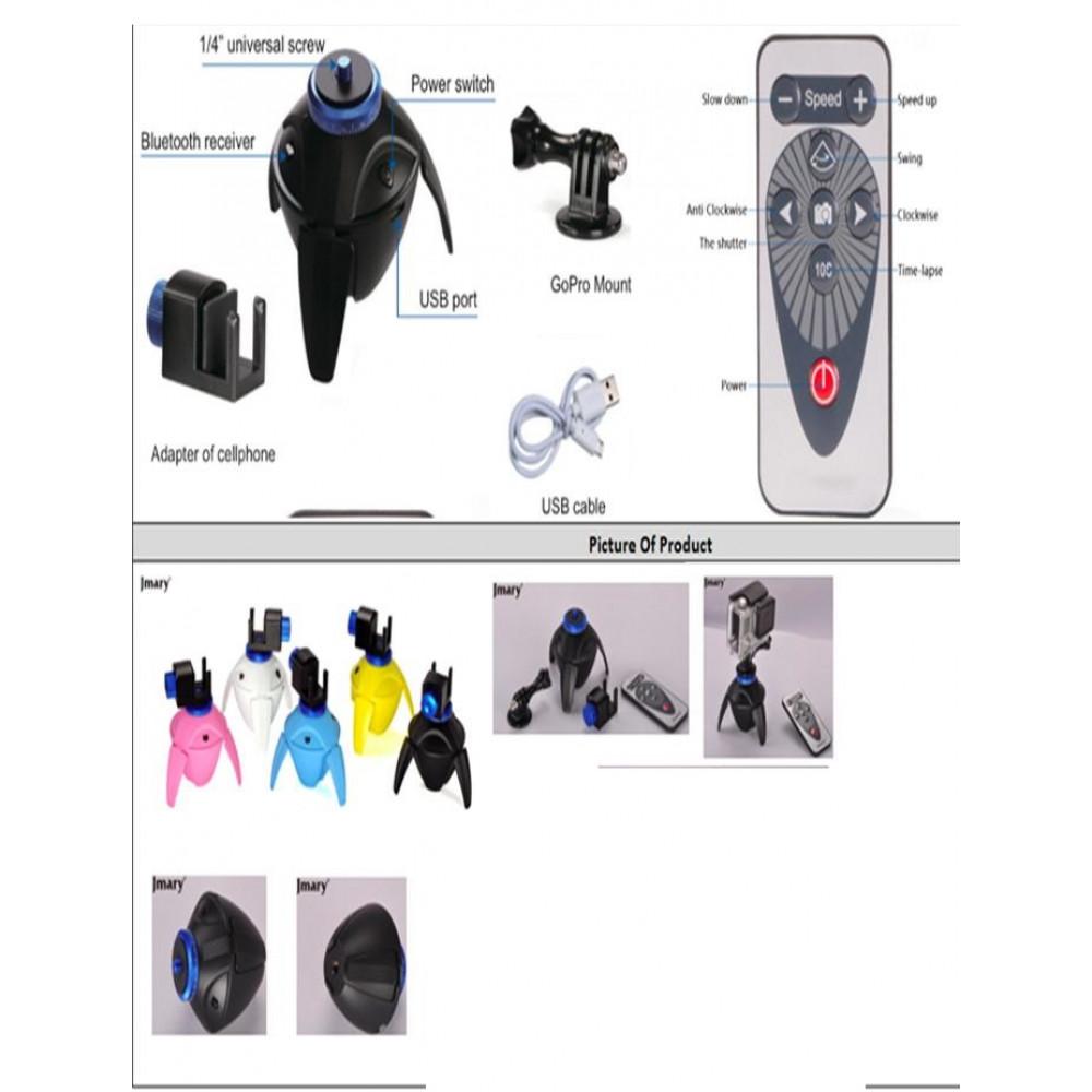 Панорамная головка для Экшн-камера c пультом управления Jmary PC-100 Yellow