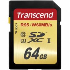 Transcend SDXC 64Gb Class 10 UHS-I U3 (95/60 MB/s)