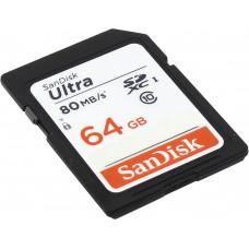 SanDisk SDXC-64GB Ultra 80MB/s-533X [SDSDUNC-64G-GN6IN]