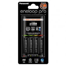 Зарядное устройство Panasonic Smart-Quick + аккумуляторы 4 шт. Eneloop AA 2500 mAh, (K-KJ55HCD40E)