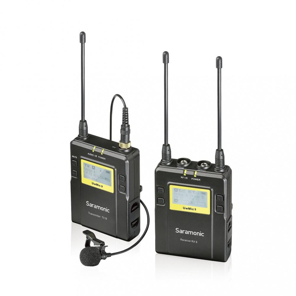 Беспроводной петличный микрофон Saramonic UWMIC9 2-х канальный TX9+RX9