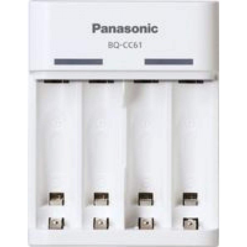 Зарядное устройство Panasonic Basic (K-KJ61MCC40USB ) для 2 или 4 акк АА/ААА Ni-MH с USB 10 часов + 4шт АА 1900 мАч