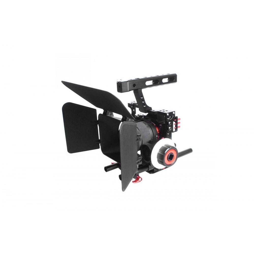 Commlite Comstar CS-K5 [V5+F0+M1] Video System Kit Camera Cage Stabilizer+Follow Focus+Matte box