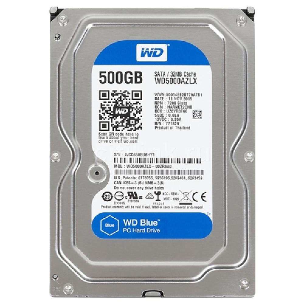 Жесткий диск 500 ГБ  WD Blue [WD5000AZLX]