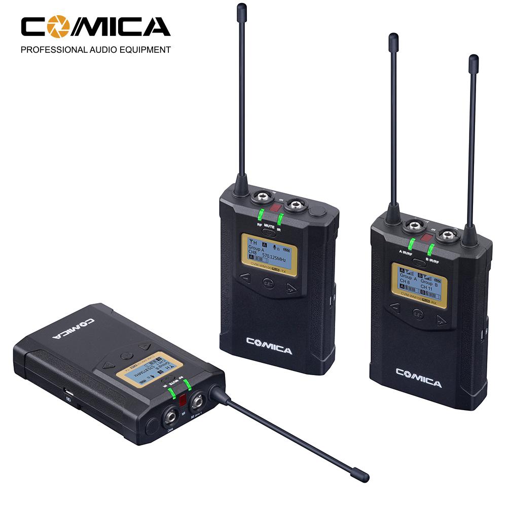 Беспроводной микрофон Comica CVM-WM100 плюс UHF 48 каналы