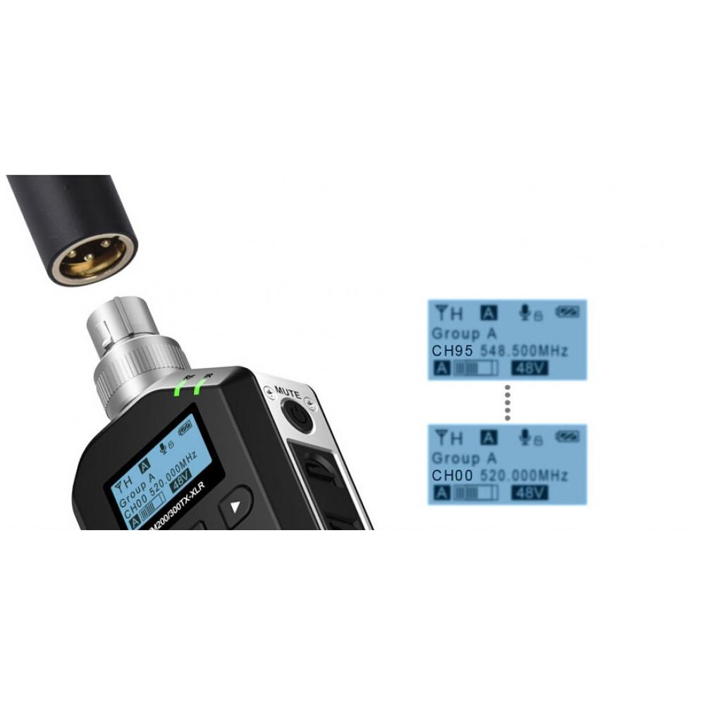 Беспроводной передатчик XLR для микрофон,Comica CVM-WM-200/300-XLR UHF