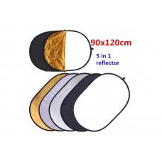 Commlite CM-FR90120 Отражатель золото/серебро  [диаметр 90cm/120cm] 5 в 1